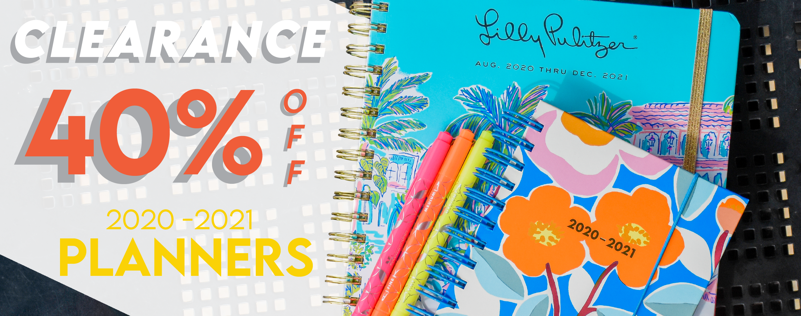 Shop 2020-2021 planners now with 40% off through June 26th.