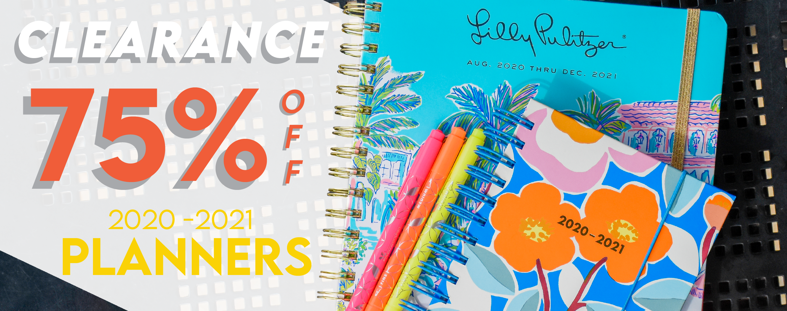 Shop 2020-2021 planners now with 75% off through June 26th.