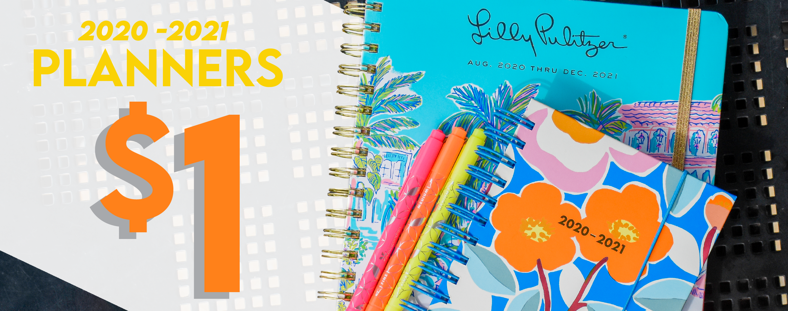 Shop 2020-2021 planners now for $1.00.