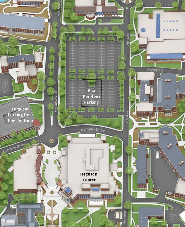 close-up image of Ferguson avaialable parking options