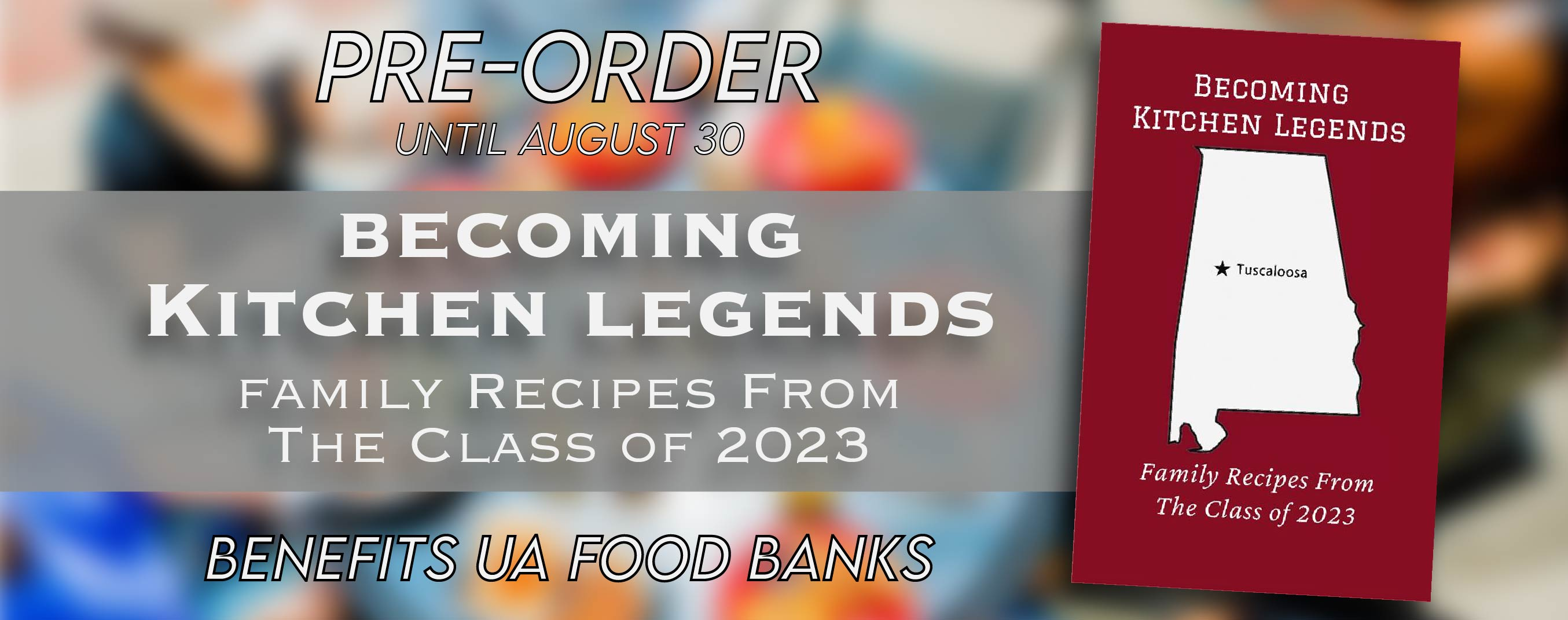 Pre-order Becoming Kitchen Legends.  Taking orders through August.  Will ship in September