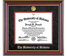 Click here to purchase University of Alabama diploma frames