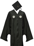 Click here to purchase the Master's cap and gown