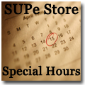 Click here for the SUPe Store Special Hours Calendar