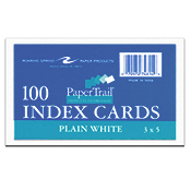 Index Card 3 X 5 Plain White