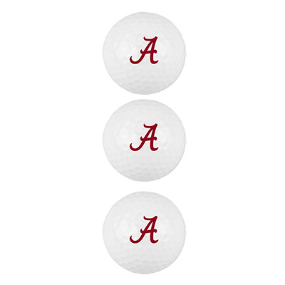 3 Pack Alabama Golf Balls