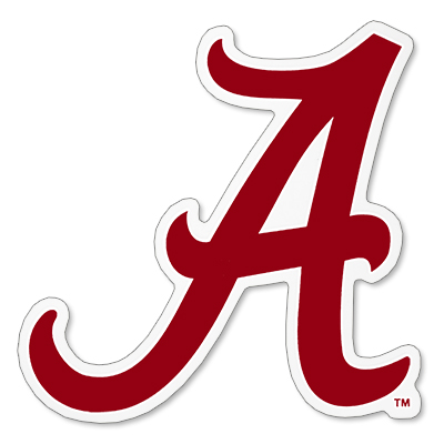 Alabama Decal Script A