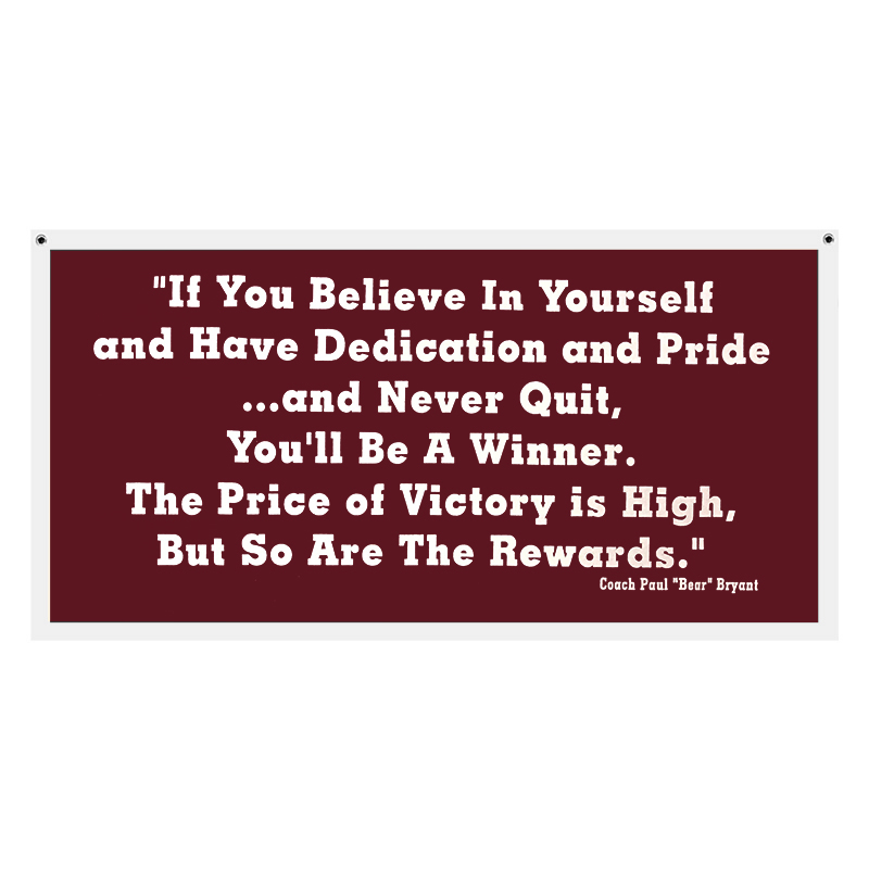 Pennant Banner If You Believe In Yourself (SKU 1081685124)