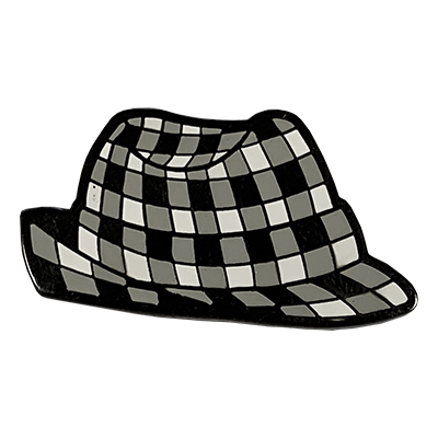 Spirit Pin Houndstooth Hat