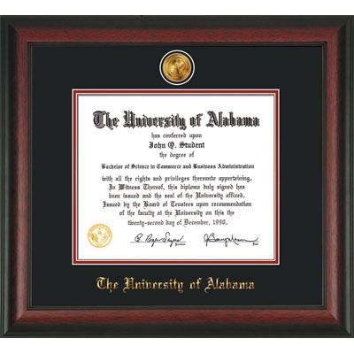 Frame Diploma rosewood W/Med/Dm Black/Crimson | University of ...