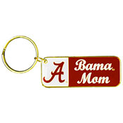 Brass Alabama Key Chain Bama Mom