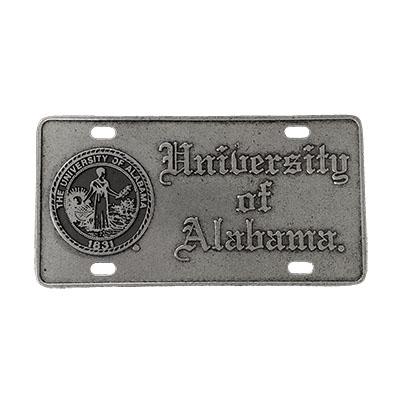 License Plate Seal Univ Of AL   University of Alabama Supply Store