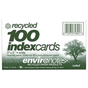 Index Card 3 X 5  Ruled Recycled