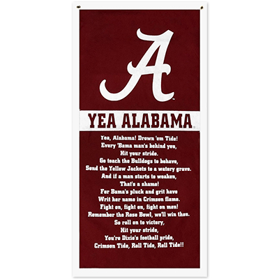 Yea Alabama! Pennant Banner Flocked