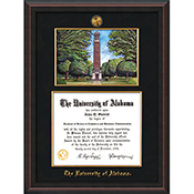 Frame Diploma Mahogany Braid W/Wtrcolor Denny Chimes W/Filet Black Suede