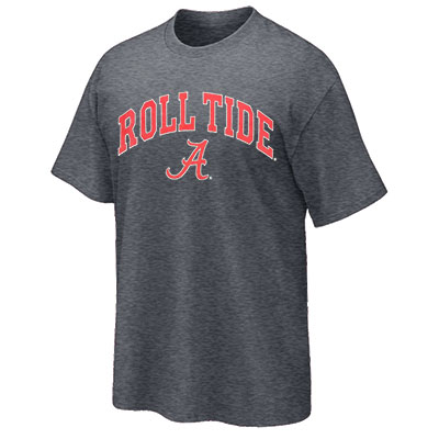 T-Shirt Roll Tide Over Script A Cardinal Fill