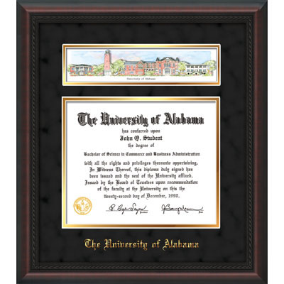Frame Diploma Mahogany Braid-W/3-D Collage-Black Suede/Gold Mat (SKU 12311699122)