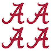 Alabama Script A White Outline Game Face Tattoo