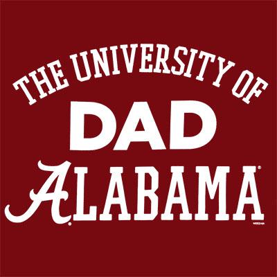 T-SHIRT UNIVERSITY OF ALABAMA DAD