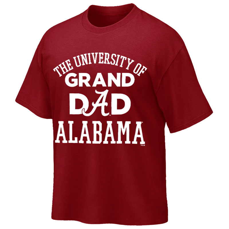 t shirt university of alabama grand dad university of