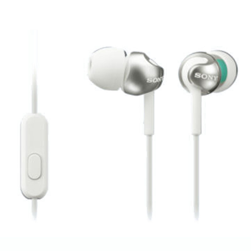 Sony Step-Up Smartphones In-Ear Headset W/ Mic-White (SKU 12609536211)