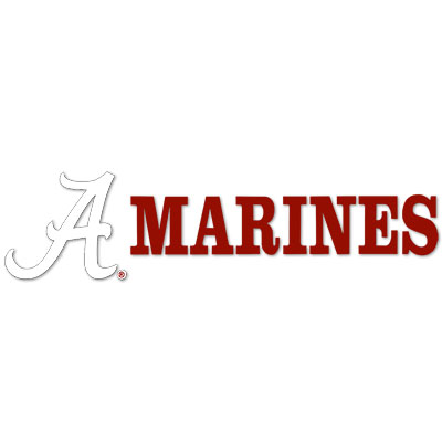 Marines With Script A Decal