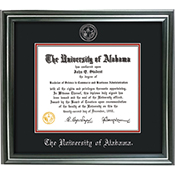 Frame Diploma Satin Silver Bk On Crim/ Seal