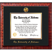 Frame Diploma Mezzo Black On Gold W Medallion