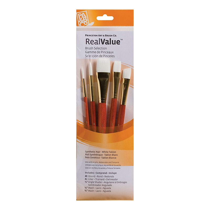 Princeton Value Brush Set White Taklon (SKU 12731473218)