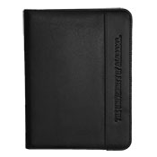 Padfolio Leather Trim Side Logo
