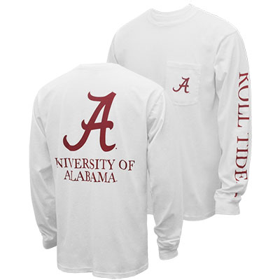 University Of Alabama Roll Tide Vintage Wash Long Sleeve Pocket T-Shirt (SKU 12794249207)