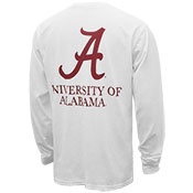 UNIVERSITY OF ALABAMA ROLL TIDE VINTAGE WASH LONG SLEEVE POCKET T-SHIRT