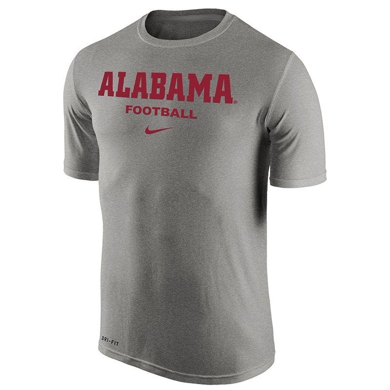 Alabama football dri fit t shirt university of alabama for University of alabama football t shirts