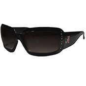 Alabama Black Square Frame Rhinestone Sunglasses