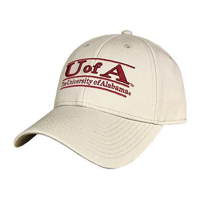CAP LOW PROFILE TWILL U OF A BAR