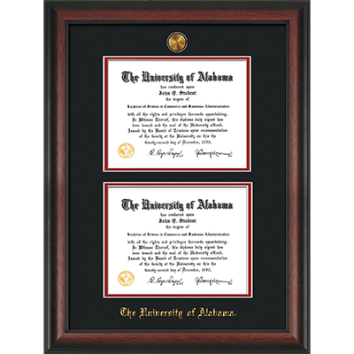 Frame Diploma Rosewood Double Bk/Red W Medallion (SKU 12863983122)