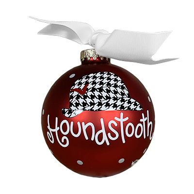 UNIVERSITY OF ALABAMA HOUNDSTOOTH HAT BALL ORNAMENT