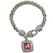 Alabama Domed Heart Clasp Bracelet
