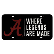 Where Legends Are Made Car Tag