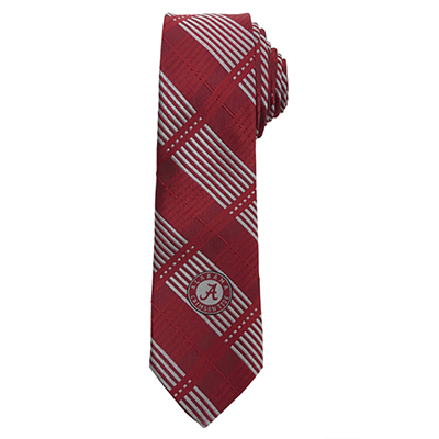 Skinny Plaid Tie With Script A Logo