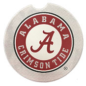 Alabama Car Coaster Gray With Logo
