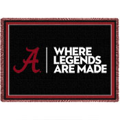 Alabama Where Legends Are Made Throw