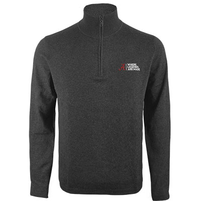 Cotton Cashmere 1/4 Zip Where Legends Are Made