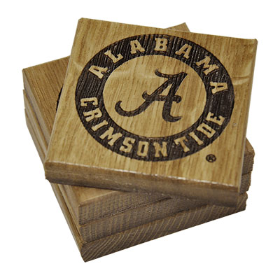 Alabama Coaster Set Circle Logo