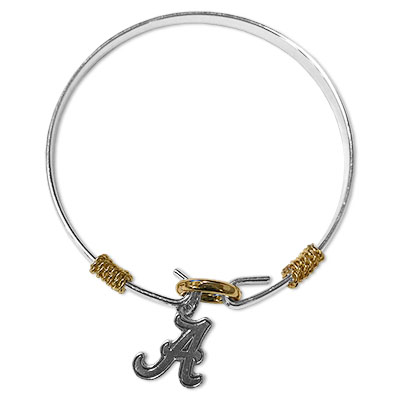 Alabama Two Tone Silver Gold Bracelet