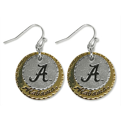 Alabama Stamped Earrings