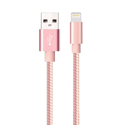 Iessentials Lightning/Usb Data Transfer Cable - Rose Gold