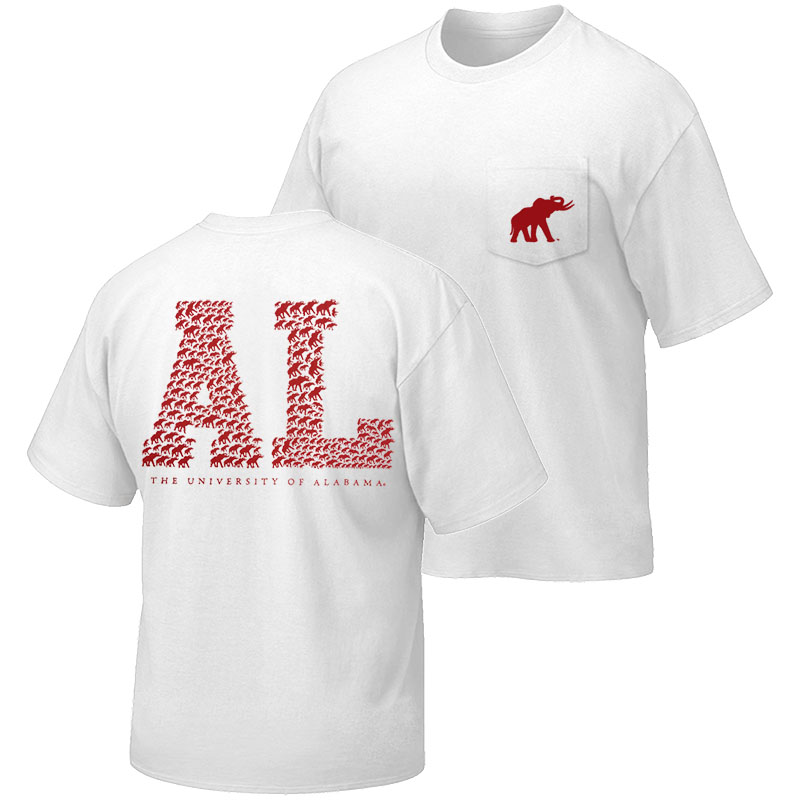 Tuskwear Block Letter Design T Shirt University Of Alabama Supply