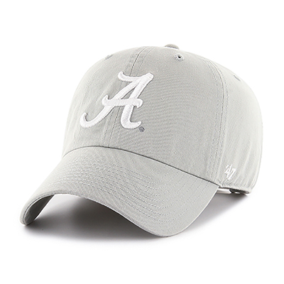 47 Brand Cap Clean Up With Script A In White