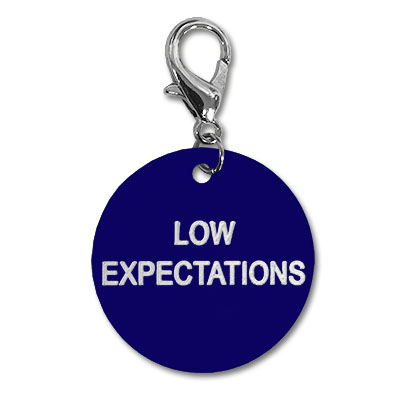 Low Expectations Key Tag